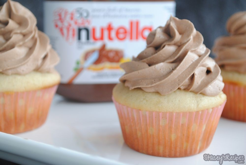 Vanilla Cupcake with Nutella Frosting