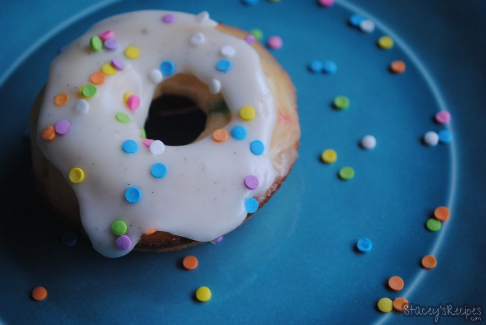 Funfetti Cake Batter Baked Donuts