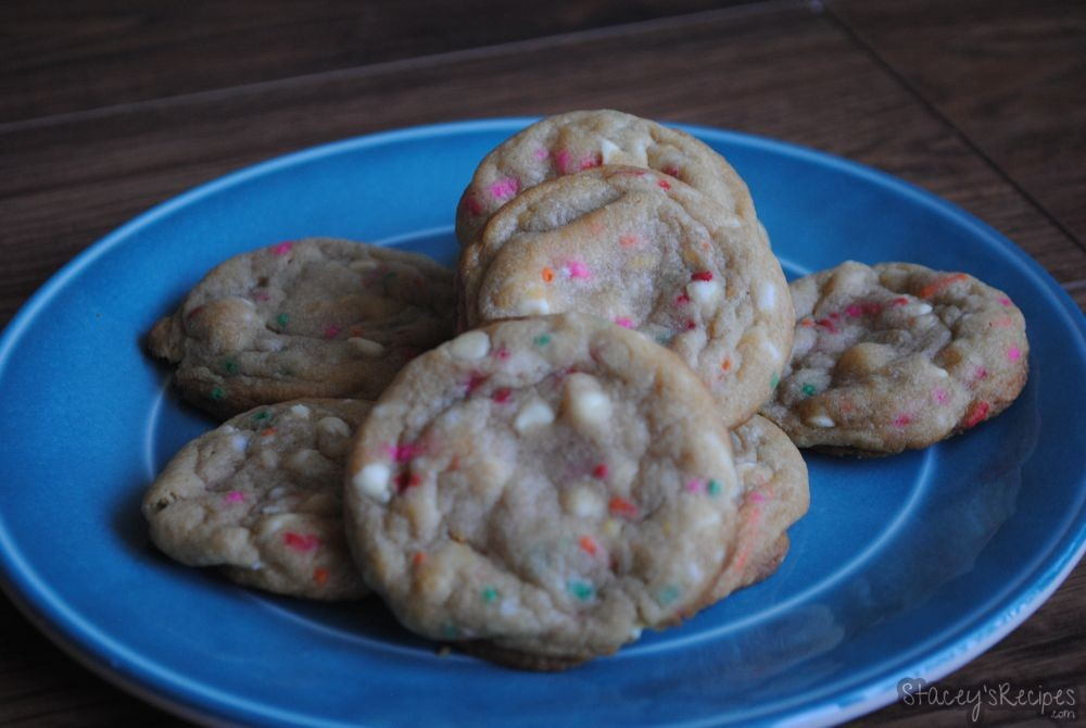 White Chocolate Chip Sprinkle Cookies