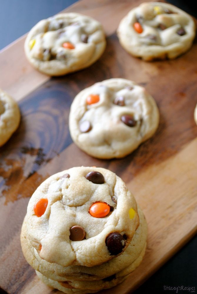 Reese S Pieces Chocolate Chip Cookies Stacey S Recipes