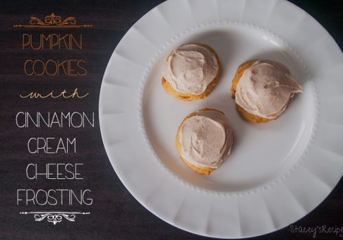 Pumpkin Cookies with a Cinnamon Cream Cheese Frosting