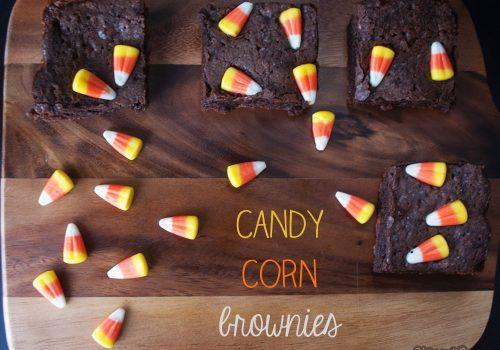 Candy Corn Brownies