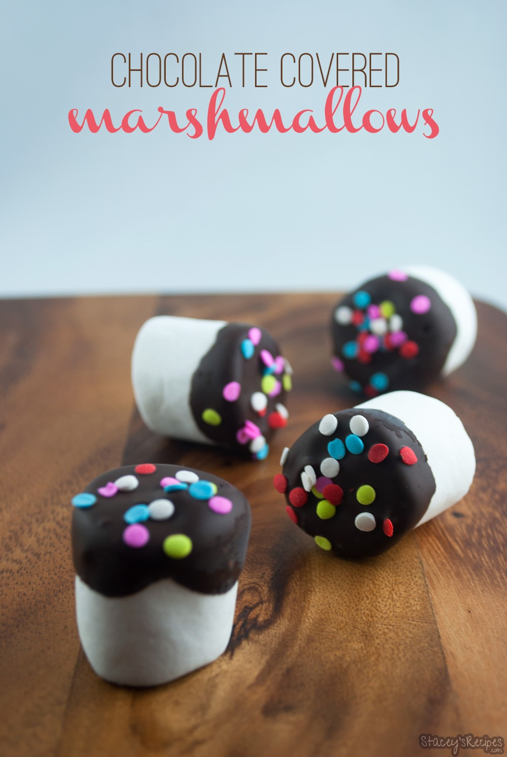 Chocolate Covered Marshmallows - Stacey's Recipes