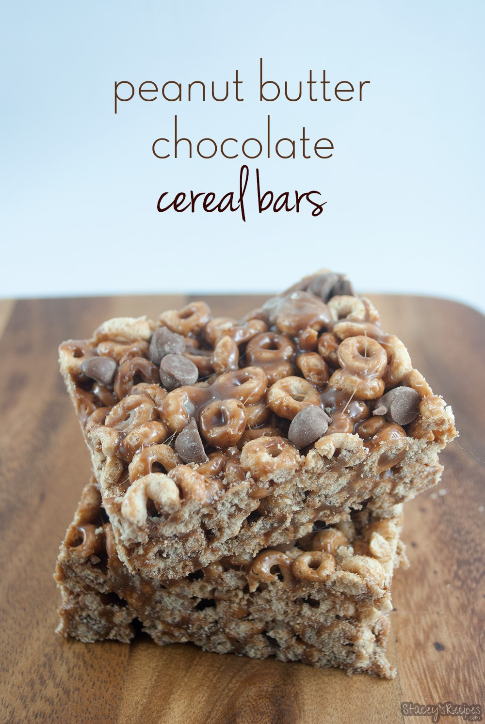 Peanut Butter Chocolate Cereal Bars