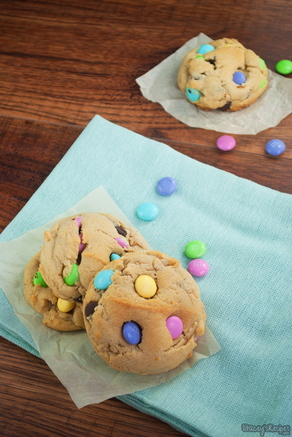Easter M&M Chocolate Chip Cookies