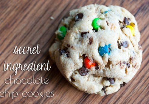 Secret Ingredient M&M Cookies