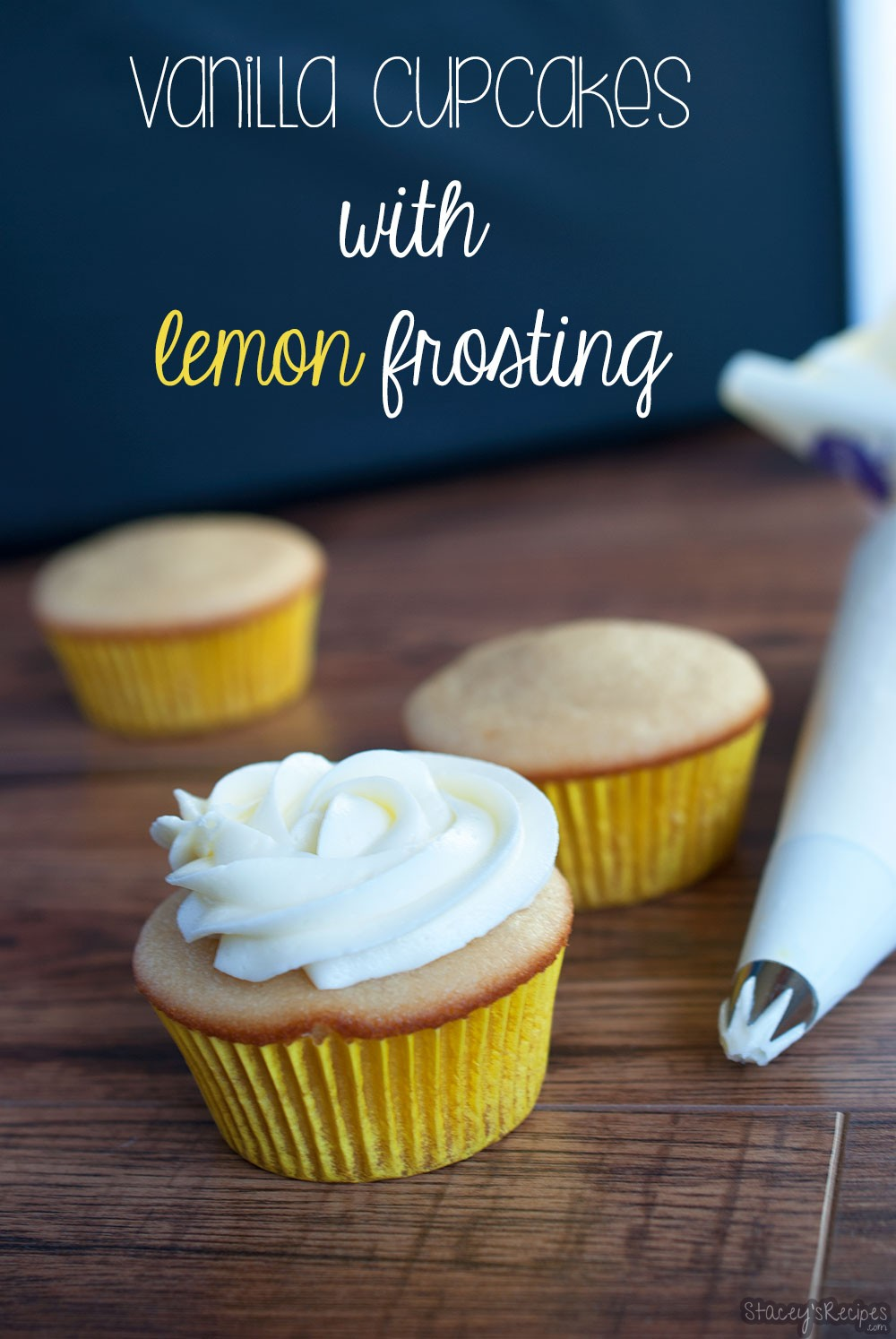 Vanilla Cupcakes with Lemon Frosting