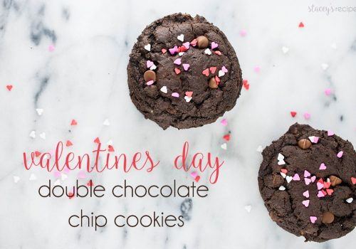 Double Chocolate Valentines Day Cookies