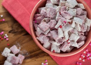 Strawberries and Cream Muddy Buddies