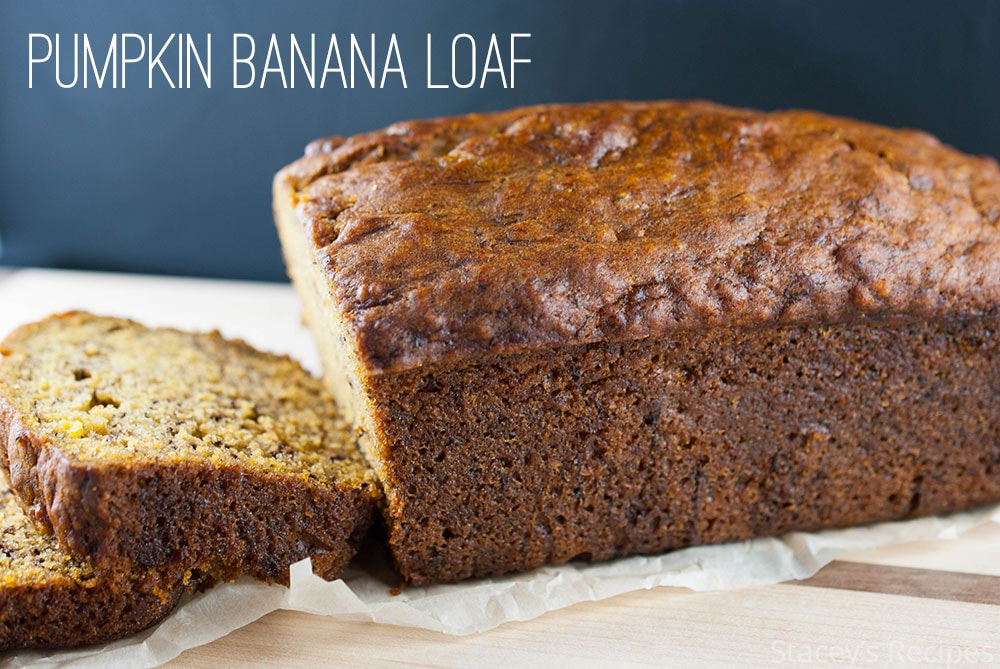 Banana loaf packed with pumpkin - a bread you'll want to make again and again this fall. | www.staceysrecipes.com